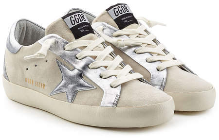 Golden Goose Super Star Suede and Leather Sneakers
