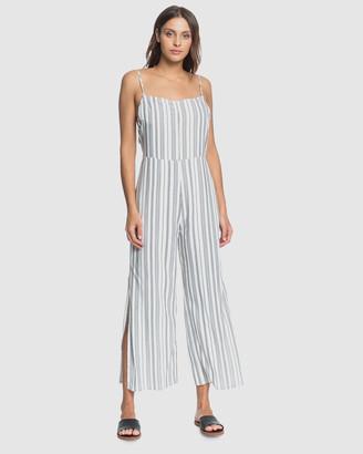 Roxy Womens Feeling Catcher Striped Wide Leg Jumpsuit