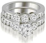 Ice 2 3/4 CT TW Bezel Set Round Cut Diamond Engagement Set in 14K White Gold