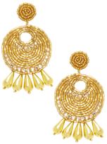 Kenneth Jay Lane Glass Crystal Drop Earrings