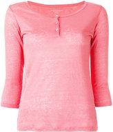 Majestic Filatures henley longsleeved T-shirt - women - Linen/Flax - 4