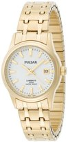Pulsar Women's PXT656 Expansion Gold-Tone Stainless Steel LumiBrite Dial Watch