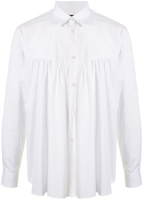 Comme des Garcons Button Down Gathered Shirt
