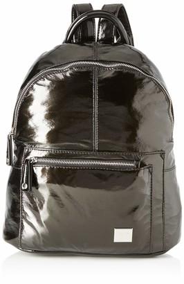 Maria Mare Mariamare GALENA Womens Backpack Handbag Black (Metallic Negro) 14x34x29 centimeters (W x H x L)