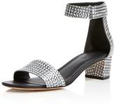 Vince Rita Embossed Metallic Mid Heel Sandals