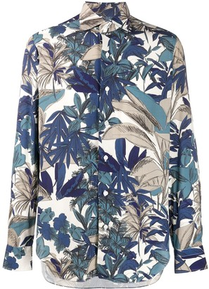 Barba long sleeved Hawaiian shirt