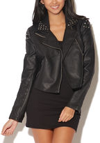 Wet Seal Faux Leather Studded Jacket