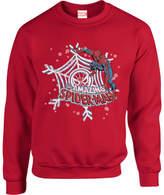 Marvel Comics The Amazing Spiderman Snowflake Web Red Christmas Sweatshirt