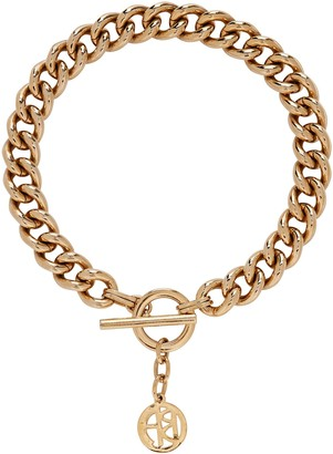 Ben-Amun Small Chain-Link Logo Necklace