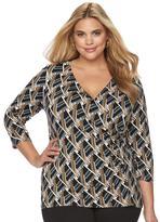 Dana Buchman Plus Size Faux-Wrap Top