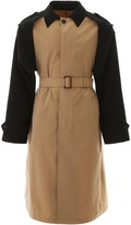 Alexander McQueen Belted Two-Tone Trench Coat