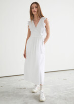 Thumbnail for your product : And other stories Ruffled Midi Wrap Dress