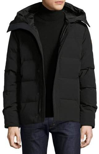 Canada Goose Macmillan Hooded Parka Coat, Black