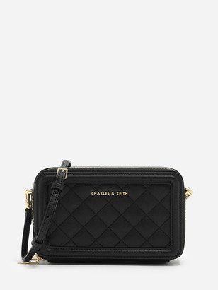 Charles & Keith Quilted Long Wallet