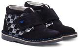 Armani Junior Navy Suede Branded Desert Boots
