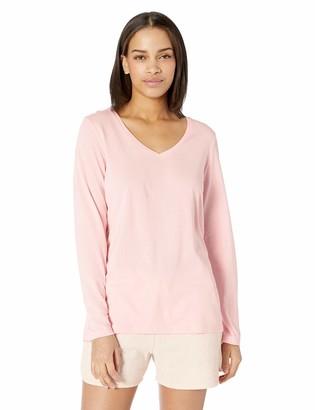 Hue Women's Plus Size Long Sleeve V-Neck Sleep Tee