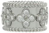 Van Cleef & Arpels Van Cleef & Aprels Perlee Clover Diamond Medium Band Ring
