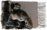 N.Peal variated rabbit fur scarf
