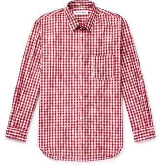 Comme des Garçons Shirt Printed Gingham Cotton Shirt