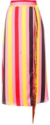 MSGM striped tassel skirt