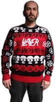 Musical Artist Slayer Pentagram & Skulls Adult Christmas Sweater