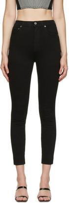 AGOLDE Black Roxanne Super High Rise Skinny Jeans
