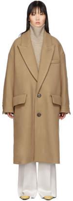 Ami Alexandre Mattiussi Tan Wool Oversized Coat