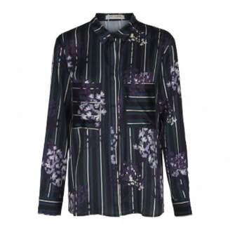 Sofie Schnoor Dark Florals Shirt - S - Purple/White/Black
