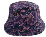 Floral Paisley Print Bucket Hat