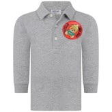 Moschino Boys Grey Teddy Polo Shirt