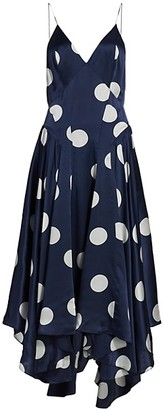 TOVE Maren Polka Dot Silk Dress