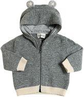 Moncler Hooded Zip-Up Wool Cardigan
