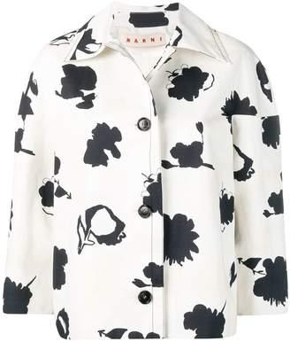 Marni floral cropped jacket
