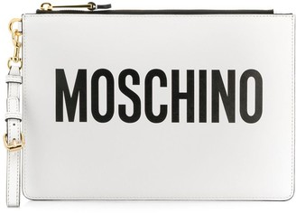 Moschino Logo Printed Clutch