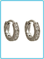 Loree Rodkin Mini Etched Hoops with Six Stones Earrings