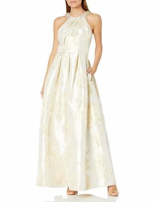 Eliza J Women's Ballgown with Beaded Detail at Neckline