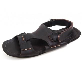 Prada Brown Leather Sandals