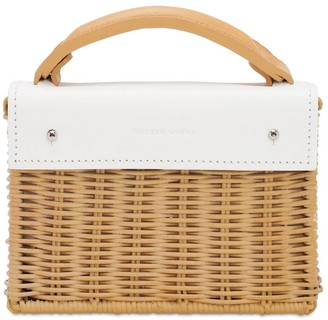 Wicker Wings Exclusive Mini Kuai Rattan & Leather Bag