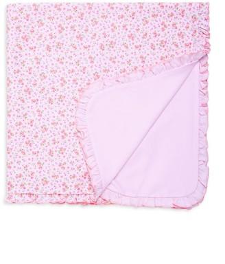 Kissy Kissy Baby's Girl Rose Print Ruffle Blanket