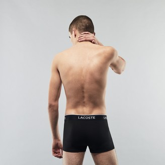 Lacoste Pack Of 3 Casual Black Boxer Briefs