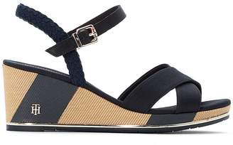 Tommy Hilfiger Estella 1D Wedge Heel Sandals with Cross-Strap