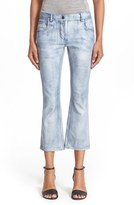 Alexander Wang Crop Flare Leather Pants