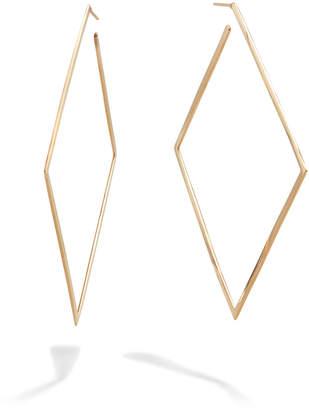 Lana 80mm 14k Gold Square Flat Hoop Earrings