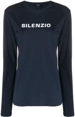 Aspesi Long Sleeved Logo T-Shirt