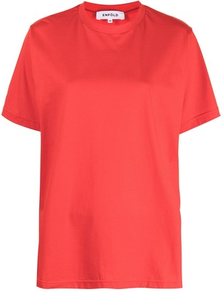 Enfold Short-Sleeved Cotton T-Shirt