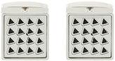 HUGO BOSS engraved pattern square cufflinks