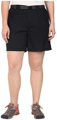 Columbia Plus Size Sandy River Cargo Short (Black) Women's Clothing