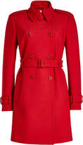 RED Valentino Belted Coat with Cotton and Wool