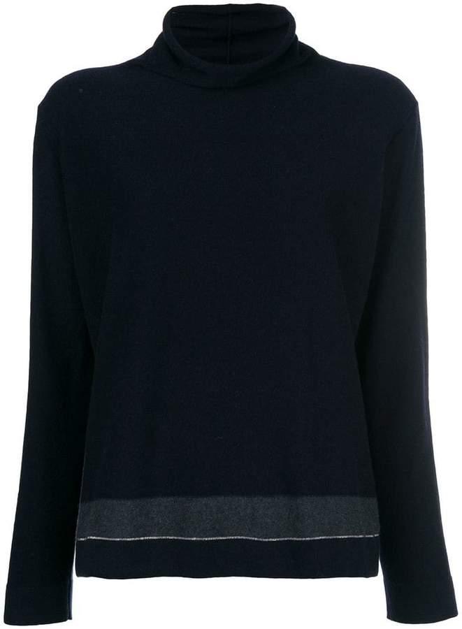 Fabiana Filippi bead embellished roll neck sweater