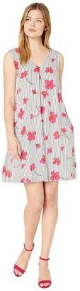 Tribal A-Line Dress w/ Pockets (Pink) Women's Clothing